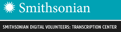 Smithsonian Digital Volunteers: Transcription Center
