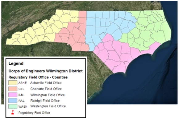 US Army Corps of Engineers Field Office Regions